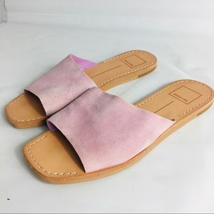 Dolce Vita suede slip on pink flat sandals size 7